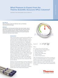 What Pressure to Expect from the Thermo Scientific Accucore HPLC ...