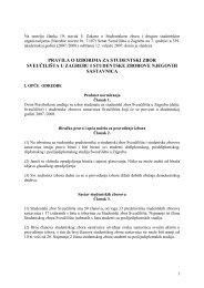 pravila o izborima za studentski zbor sveučilišta u zagrebu i ...