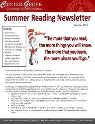 Summer 2011 - Center Grove Community School Corporation