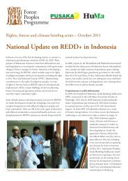 National Update on REDD+ in Indonesia - Forest Peoples Programme