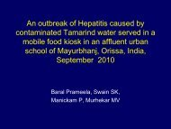 Hepatitis E outbreak due to contaminated tamarind water ... - Library