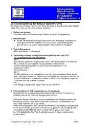 Bestuursvergadering donderdag 6 september 2012 - Komloosduinen