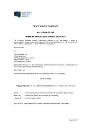 12.ARM.OP.369 Draft Contract - European Defence Agency - Europa