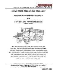 Military Truck M35A3 Cat 3116 Preventative Maintenance Filter Package