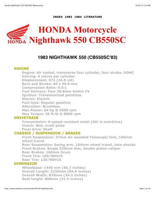 Groovy Honda Nighthawk 550 Cb550Sc Motorcycles Cbx550Club Ncnpc Chair Design For Home Ncnpcorg