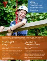 Challengers Camp Leaders of Tomorrow Camp - YMCAs