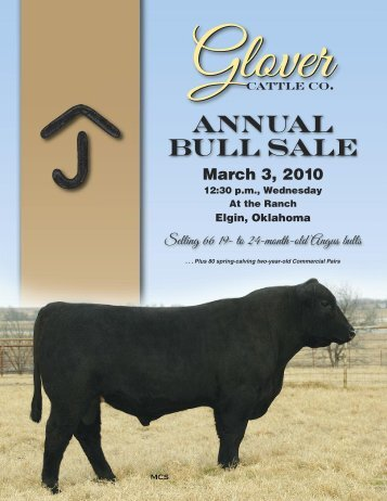 Glover - National Cattle Services, Inc.