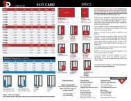SPECS RATE CARD - Stage Directions Magazine