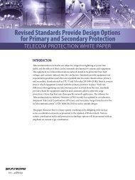 Bourns | Telecom Protection White Paper - Arrow Electronics