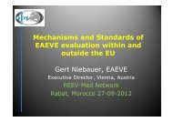 Mechanisms and Standards of EAEVE evaluation within ... - OIE Africa