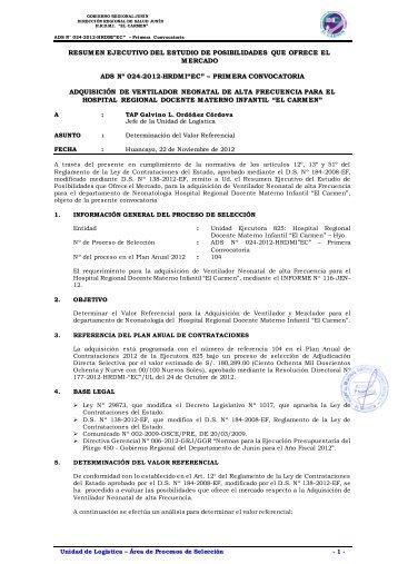 RESUMEN EJECUTIVO ESTUDIO DE MERCADO - seace