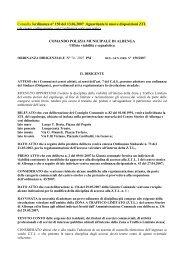 ZTL - Ordinanza - Comune Albenga