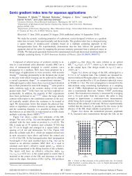 Sonic gradient index lens for aqueous applications - UPV