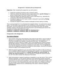 Assignment 3: Sampling (Group Assignment) Objectives: After ...