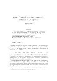 Moore–Penrose inverses and commuting elements of C -algebras