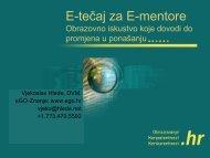 E-tečaj za E-mentore