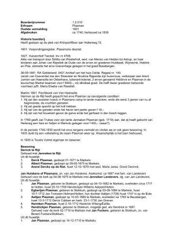 1.2.010 Boerderij Plasman, Holterweg 12 - De Hofmarken