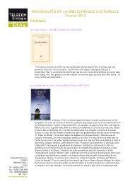 NOUVEAUTÉS DE LA BIBLIOTHÈQUE CULTURELLE Février 2013 ...