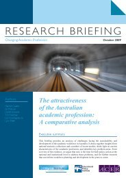 The attractiveness of the Australian academic profession : a ...