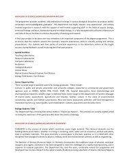 BACHELOR OF SCIENCE (HONOURS) MAJOR IN BIOLOGY ... - UPM
