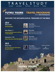 November/December 2013 - TUTKU TOURS TURKEY