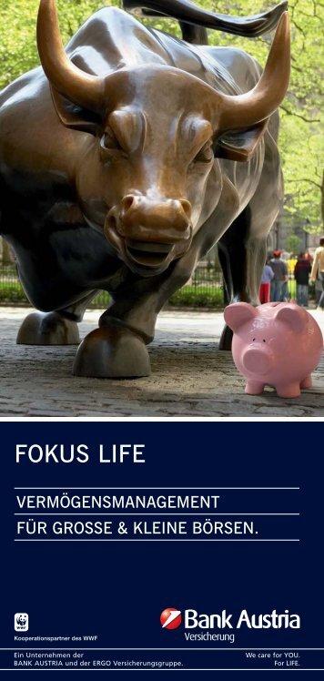 FOKUS LIFE - bei der Bank Austria Versicherung