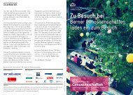 Besuchstage Genossenschaften - Regionalverband Bern-Solothurn