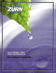 Zurn Industries, LLC Quick Reference Products Guide ... - Rexnord