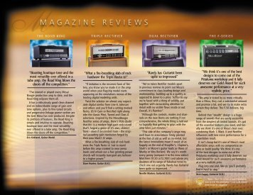 """""""Boasting boutique tone and the most versatility ever ... - Mesa Boogie"""