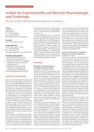 Forschungsbericht 2009-2010 - Institut für Pharmakologie und ...