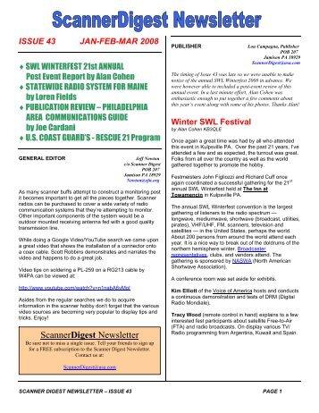 Issue 40 - Scanner Digest Newsletter