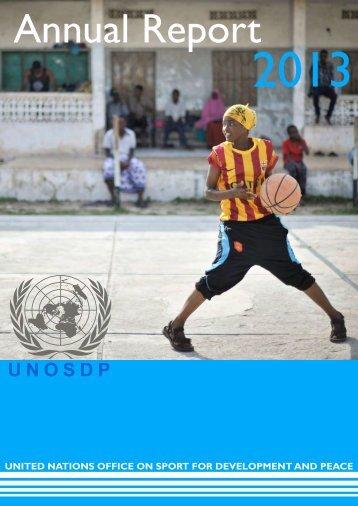 UNOSDP Annual Report 2013