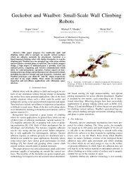 Geckobot and Waalbot: Small-Scale Wall Climbing Robots - CiteSeerX