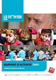 Rapports Exercice 2009 - Foyer Notre-Dame des Sans-Abri