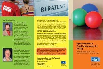 Systemische/-r Familienberater/-in (VHS) - VHS Hameln-Pyrmont