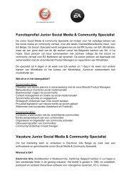 Functieprofiel Junior Social Media & Community Specialist ... - Prezly