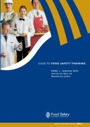 GUIDE TO FOOD SAFETY TRAINING - Level 1 - ESAC
