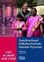 VHS in Stadt und Land - VHS Hameln-Pyrmont