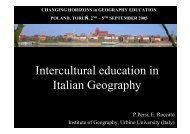 Italian geographers for intercultural education - HERODOT Network ...