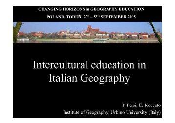Italian geographers for intercultural education - HERODOT Network ...