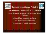 Sociedad Argentina de Pediatría 34º Congreso Argentino de ...