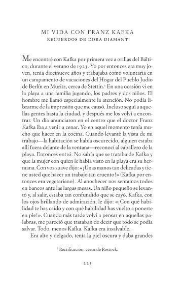 Extracto del libro - Acantilado