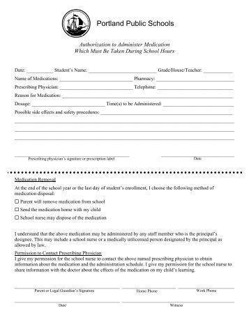 Medication Adminstering - King Middle School - Portland Public ...