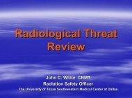 Radiological Threat Review - Gathering of Eagles