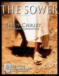 Jesus Christ: The Firm Foundation - Spirit & Truth Fellowship ...