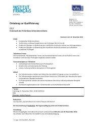 Einladung zur Qualifizierung - Landesverband der ...
