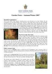 Autumn 2007 garden notes PDF... - Beales Hotels