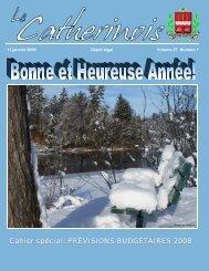 Cahier spécial: PRÉVISIONS BUDGÉTAIRES 2008 - Ville de Sainte ...