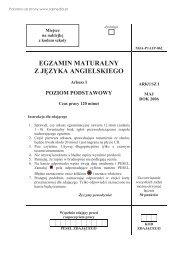 EGZAMIN MATURALNY Z JĘZYKA ANGIELSKIEGO - Sqlmedia.pl