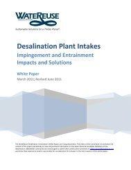 Desalination Plant Intakes - WateReuse Association